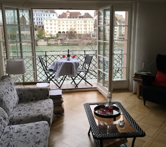 Romantic Room/Bath on Rhine River Basel - Basel - Huoneisto