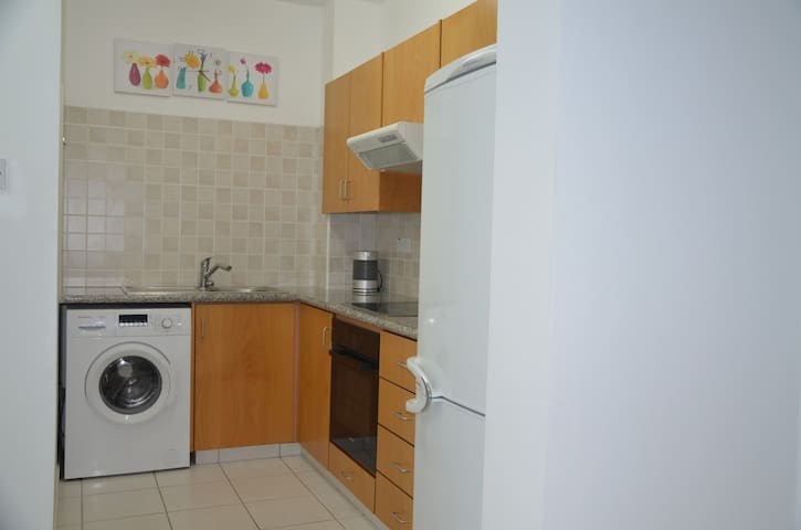 Refrigerator, stove, oven, electric kettle - everything that is necessary for a comfortable stay.