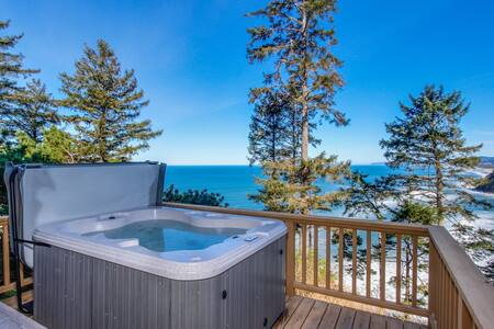 Dog-friendly home w/private hot tub, views of Proposal Rock and the ocean