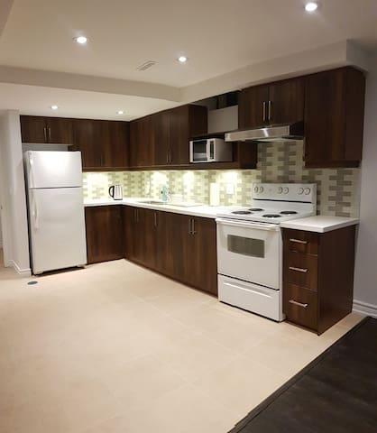 Modern basement apartment near downtown Markham