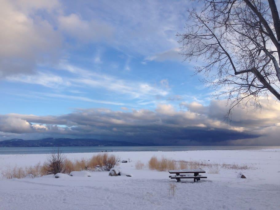 View of the Lake at Tahoe City.