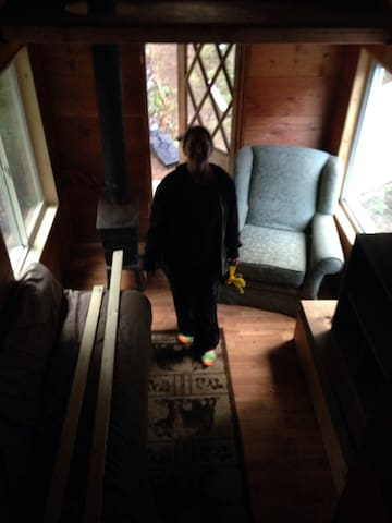 Picture of me the day the Tinyhouse arrived!