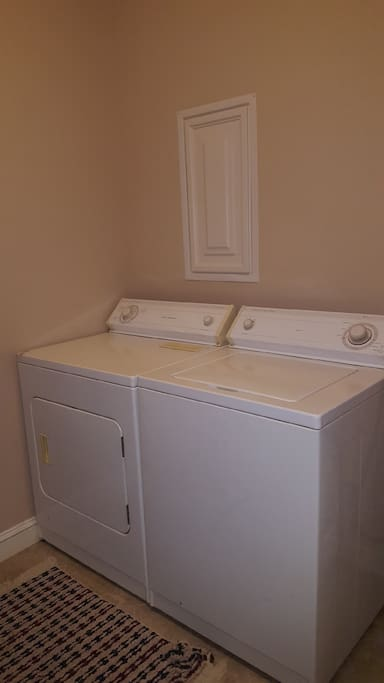 Full size washer and dryer available for use.