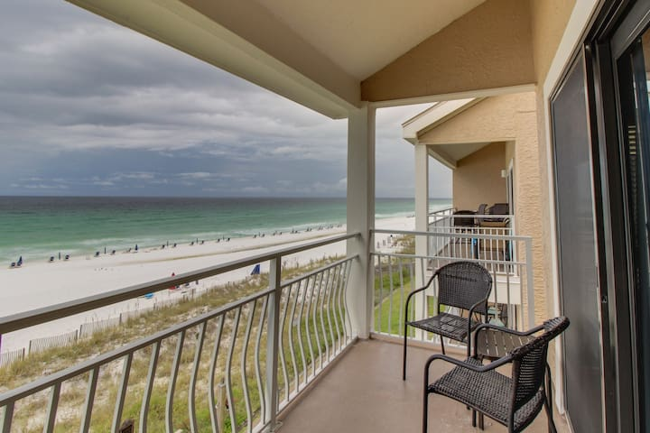 Spacious beachfront home with shared pool and private beach access