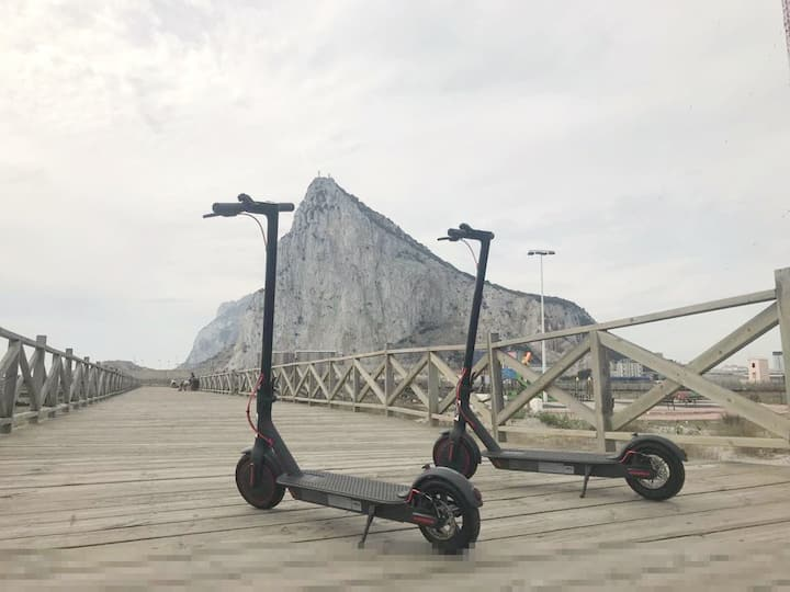 Discovering Gibraltar: Hosting+Electric Scooter