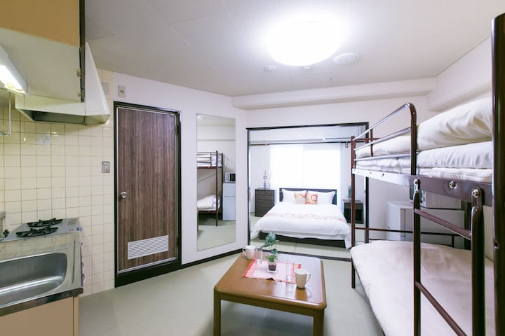 Base Hotel 513 : 5 mins walk to Hiroshima Sta 4ppl