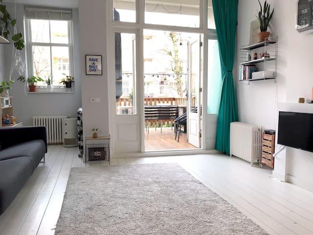 Spacious family city apartment with garden
