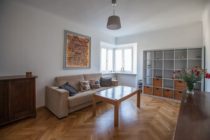 spacious apartment in green heart of Warsaw