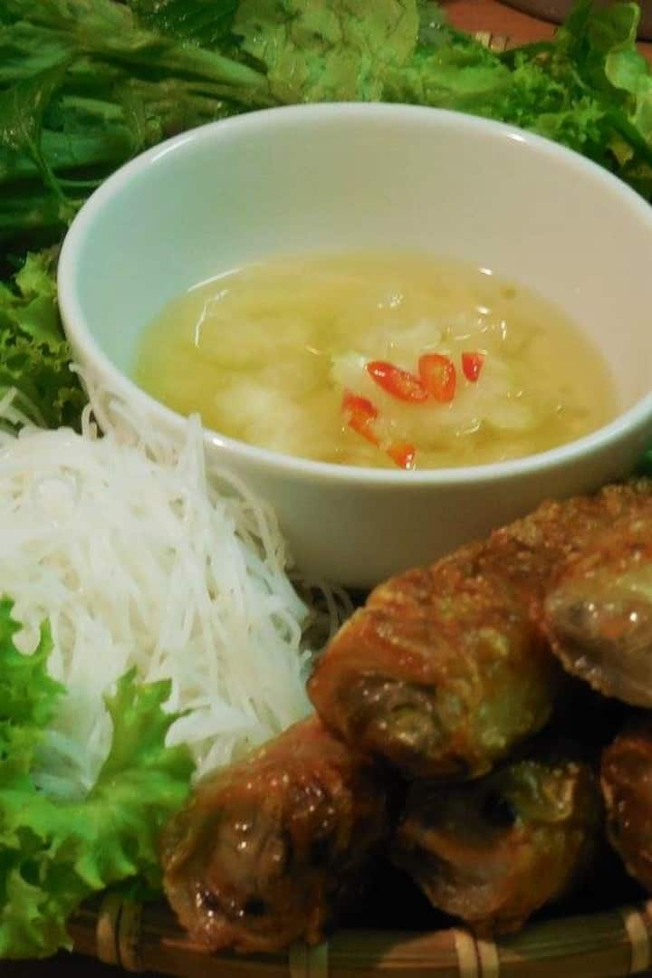 Enjoy the authentic vietnamese meal