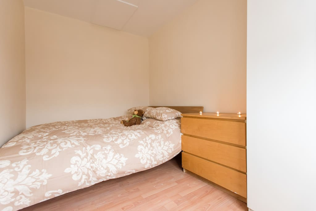 A very comfortable and spacious king size bed.