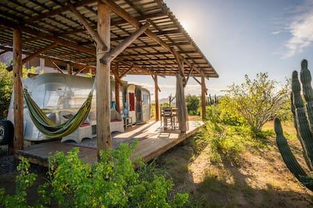 Vintage RV w/ deck and views- walk to Cerritos