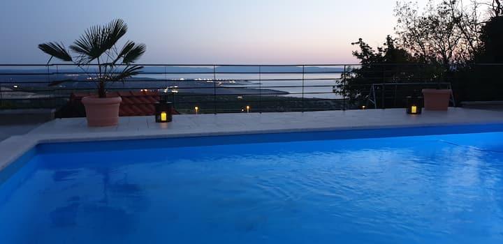 Nilaria Sea view apartment & pool near Krk, Rijeka