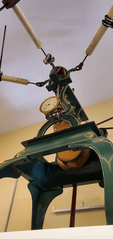 Close up of the clock tower mechanism