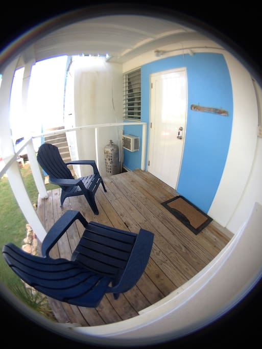 Entrance to Studio Azul where you can sit and enjoy the outdoors.