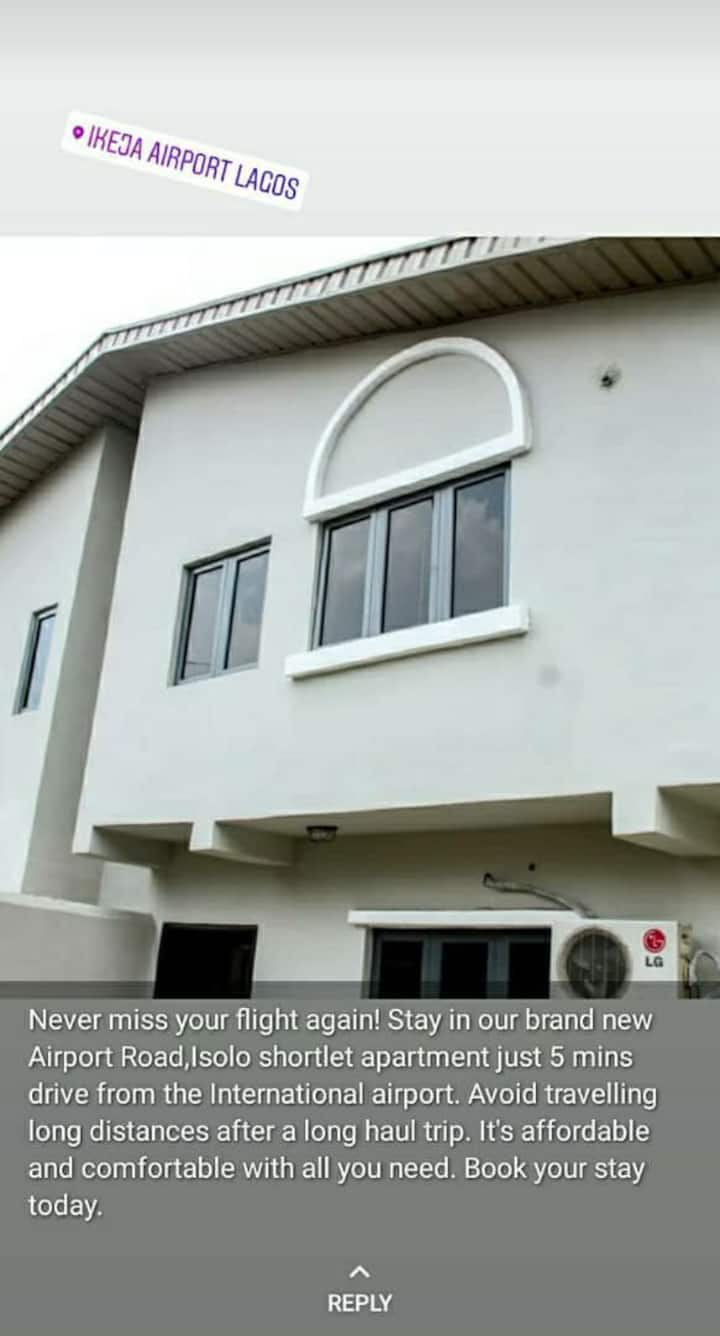 AIRPORT ROAD New 3 bed room apartment ajao estate