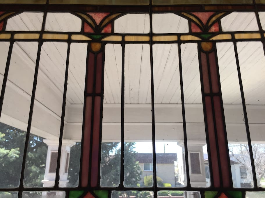 Over 100 year old stained glass windows