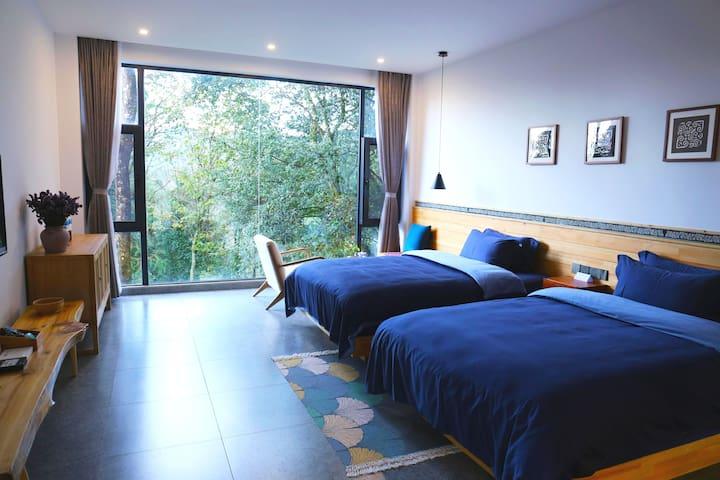 丛林景观双床间