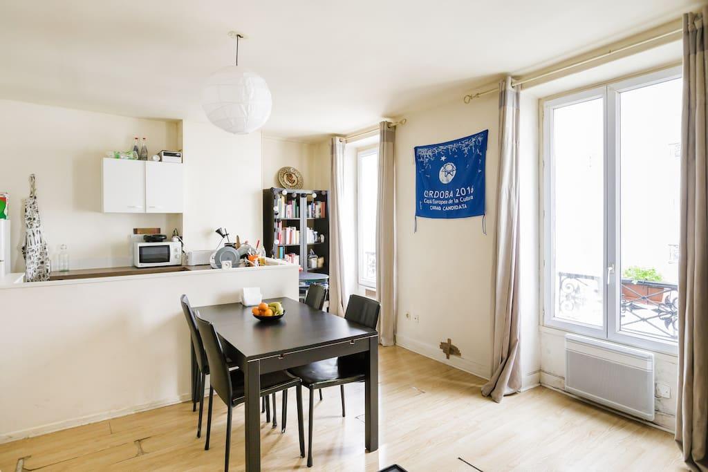 authentic apartment montparnasse appartements louer paris le de france france. Black Bedroom Furniture Sets. Home Design Ideas