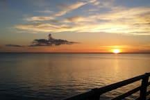 sunset from Hurricane Charlies restaurant