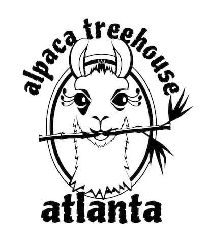 Our logo features Dali Llama, our No Drama Mama Llama.  We have tee shirts and mugs and wine glasses.  And now we have Figgy, our high drama mama llama rockstar Appaloosa.