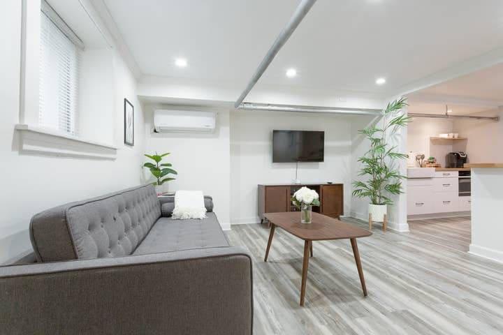 Stylish mid-century modern style apartment