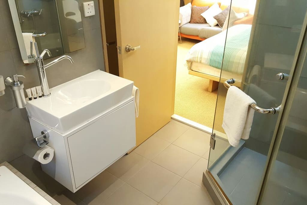 Modern and clean private bathroom