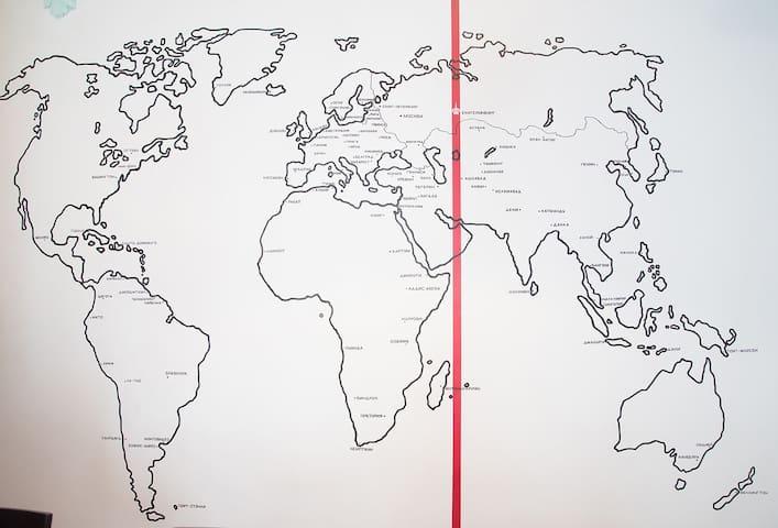 """Авторская работа """" Карта мира со столицами государств"""""""