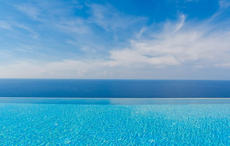 Villa Adagio with shared pool & sea view, 4persons - Kaluđerac - Villa