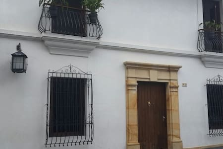 Beautiful colony house in old town Popayan
