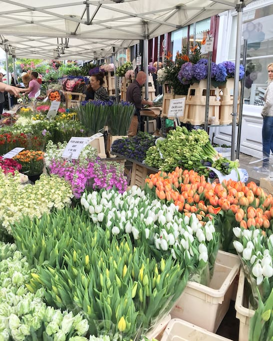 Columbia Road Flower Market-5 minutes walk from the flat