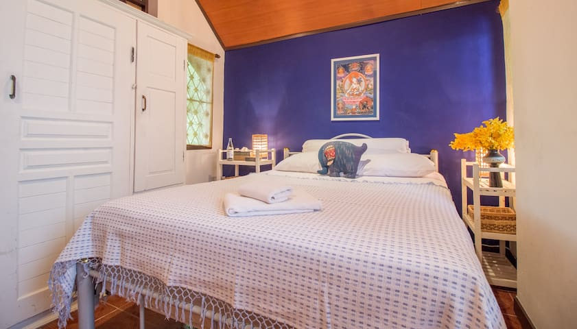 The second bedroom is bright and comes with air-con, fan, tv and plenty of wardrobe space