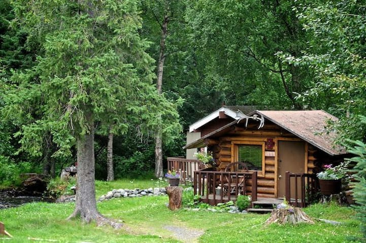 Hobbit Hole, a private cabin for 2 on Bear Creek
