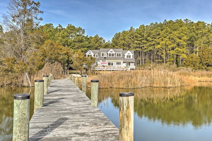 'Fishing Cove' Waterfront 8BR Cambridge House - Cambridge - Dom