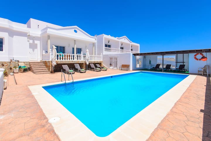 Tranquil Villa Calera 2 with Shared Pool, Ocean View, Terrace & Wi-Fi; Parking Available