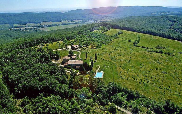 Il nostro posto situato nel mezzo delle colline del Senese