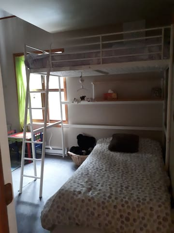 Chambre #2 - 2 lits simples superposé -  Walk-in