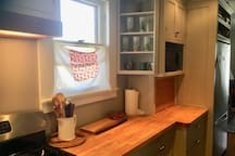 it is a happy kitchen with everything you need