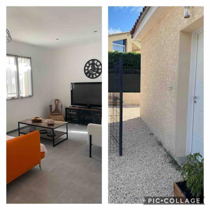 Maison 2 chambres,5 couchages,jardin sud Ardèche