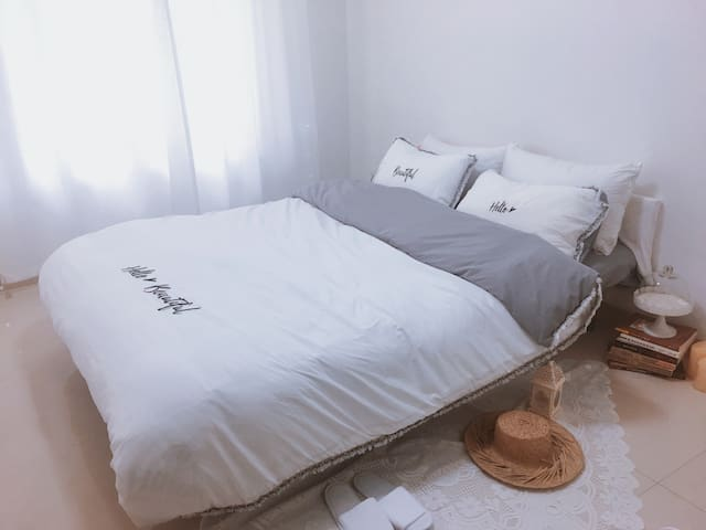 【留白】咖啡师的家  简约温馨安静SM广场 附近|复式套房