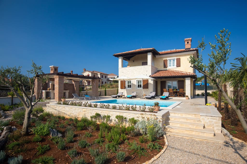 The villa is surrounded by a wonderful Mediterranean garden.