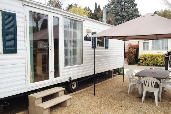 Mobil home camping Eden Biot
