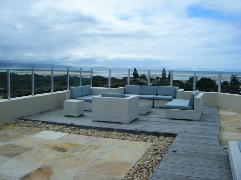 The sundeck offers the most spectacular views of the lagoon and bay