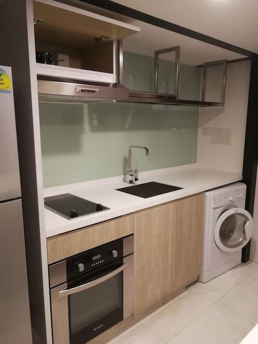 washing machine, Induction cooker, fridge.