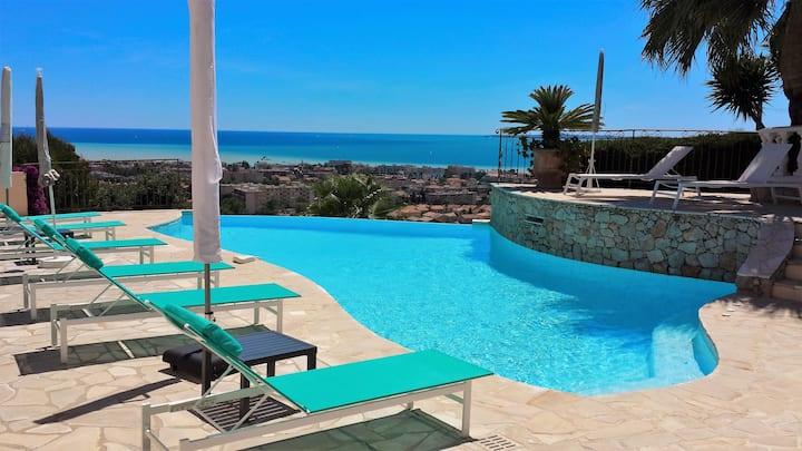 Villa offering  panoramic sea view