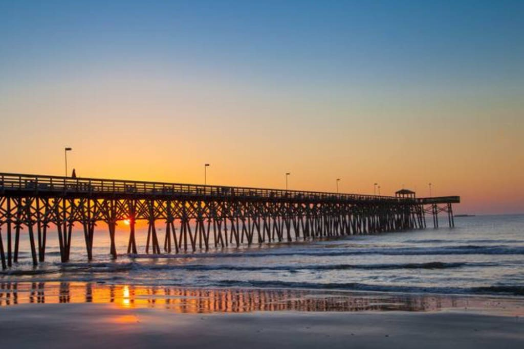 Enjoy watching the sunset off the pier or if your in the mood for some fishing bring/rent a pole, 14th Ave pier is a few blocks away and offers fishing and a beautiful restaurant for dining.