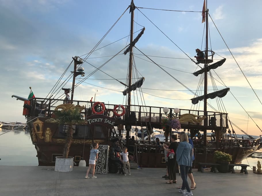 Pirate Ship from the Marina