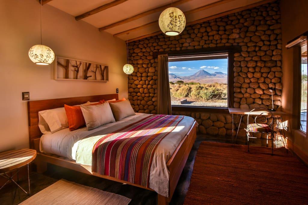 puede ser camas twin o  matrimonial y admite una cama adicional de una plaza