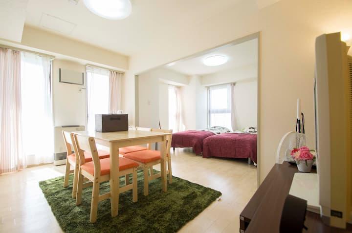 Toyohira river side comfy flat in Sapporo city