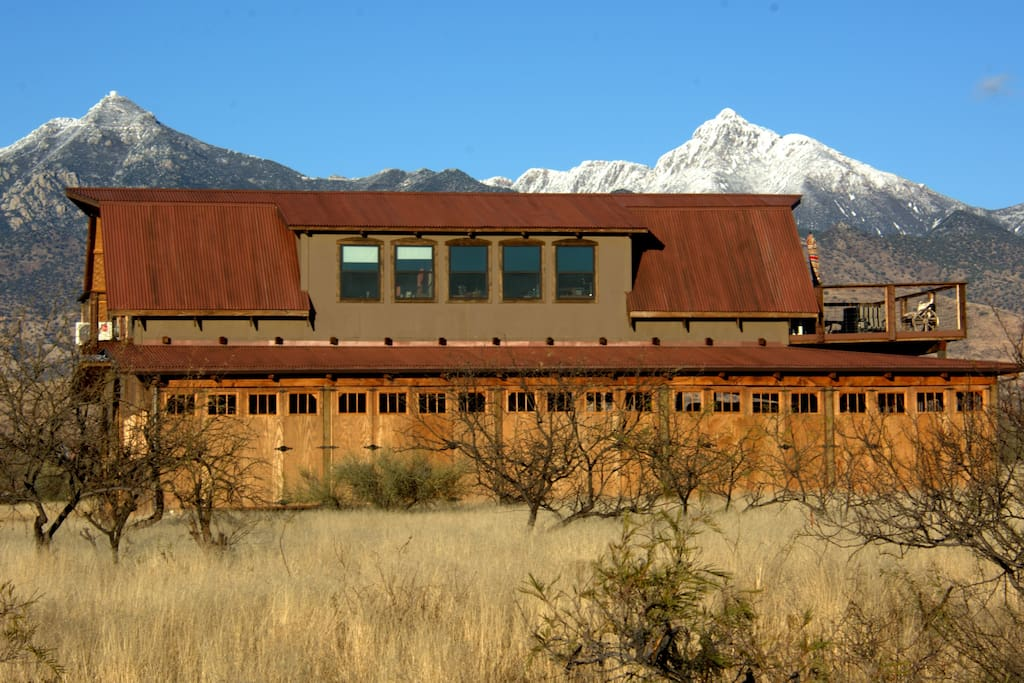 Barn view  from the road, Sana Rita Mountains. Rental is for this entire barn