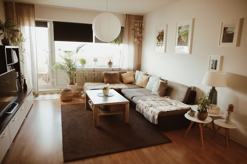 the living room is also your bedroom :)